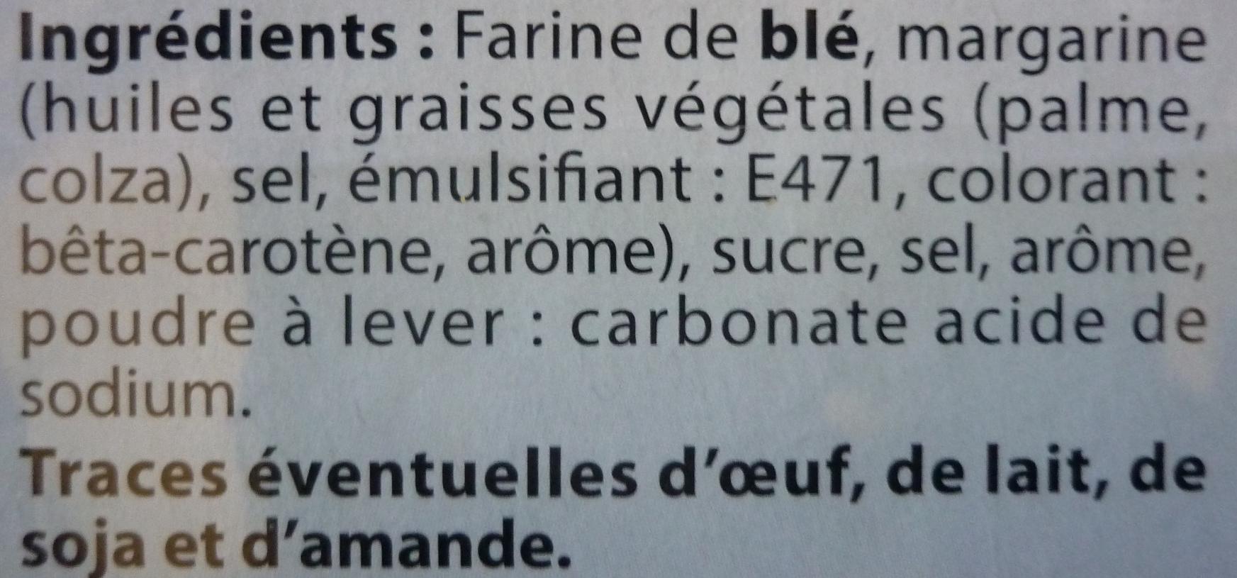 12 Palmiers - Ingredients - fr