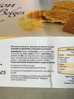 Selection de biscuits belges - Ingrediënten - fr