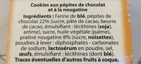 Cookies aux pépites de chocolat et à la nougatine - Ingrédients - fr