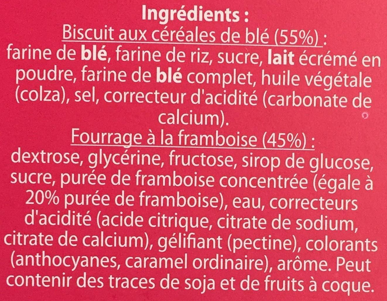 Tartines craquantes à la framboise - Ingrédients - fr