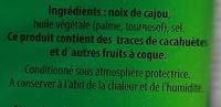 Noix de cajou grillées et salées - Ingrédients
