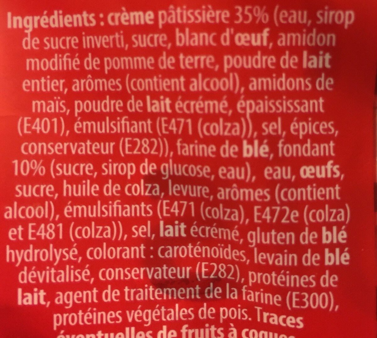 Chinois - Ingredients