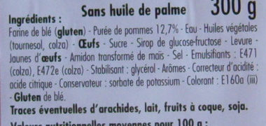 Beignets aux pommes - Ingrédients - fr