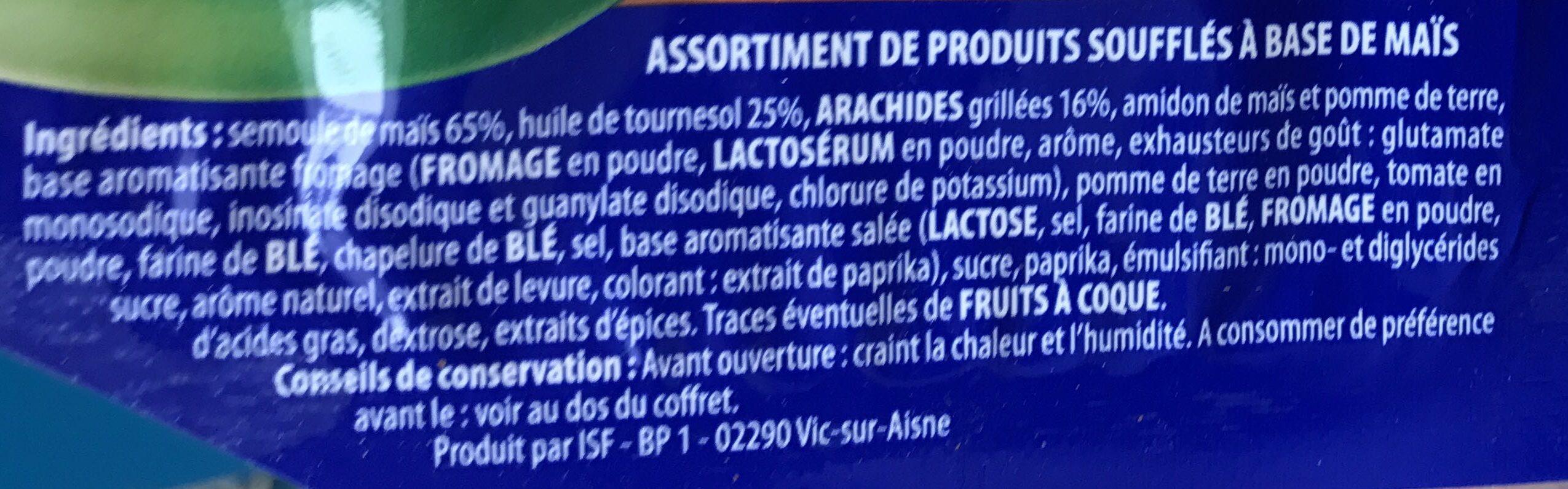 Drizz - Assortiment de produits soufflé à base de maïs - Ingrédients - fr