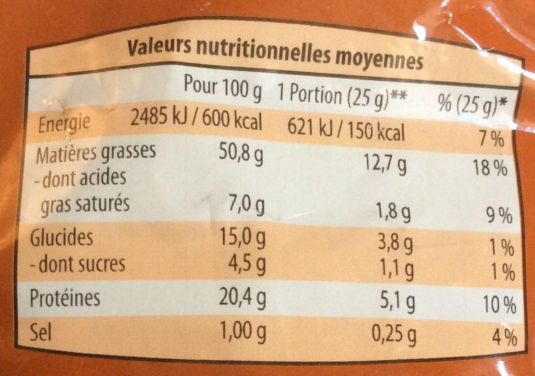 Cocktail Grillé et Salé - Informations nutritionnelles - fr