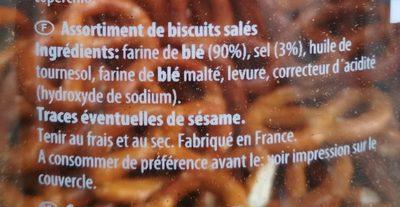 Sticks & bretzels - Ingrédients