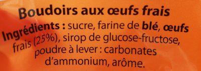 Boudoirs 25% d'œufs - Ingredients - fr