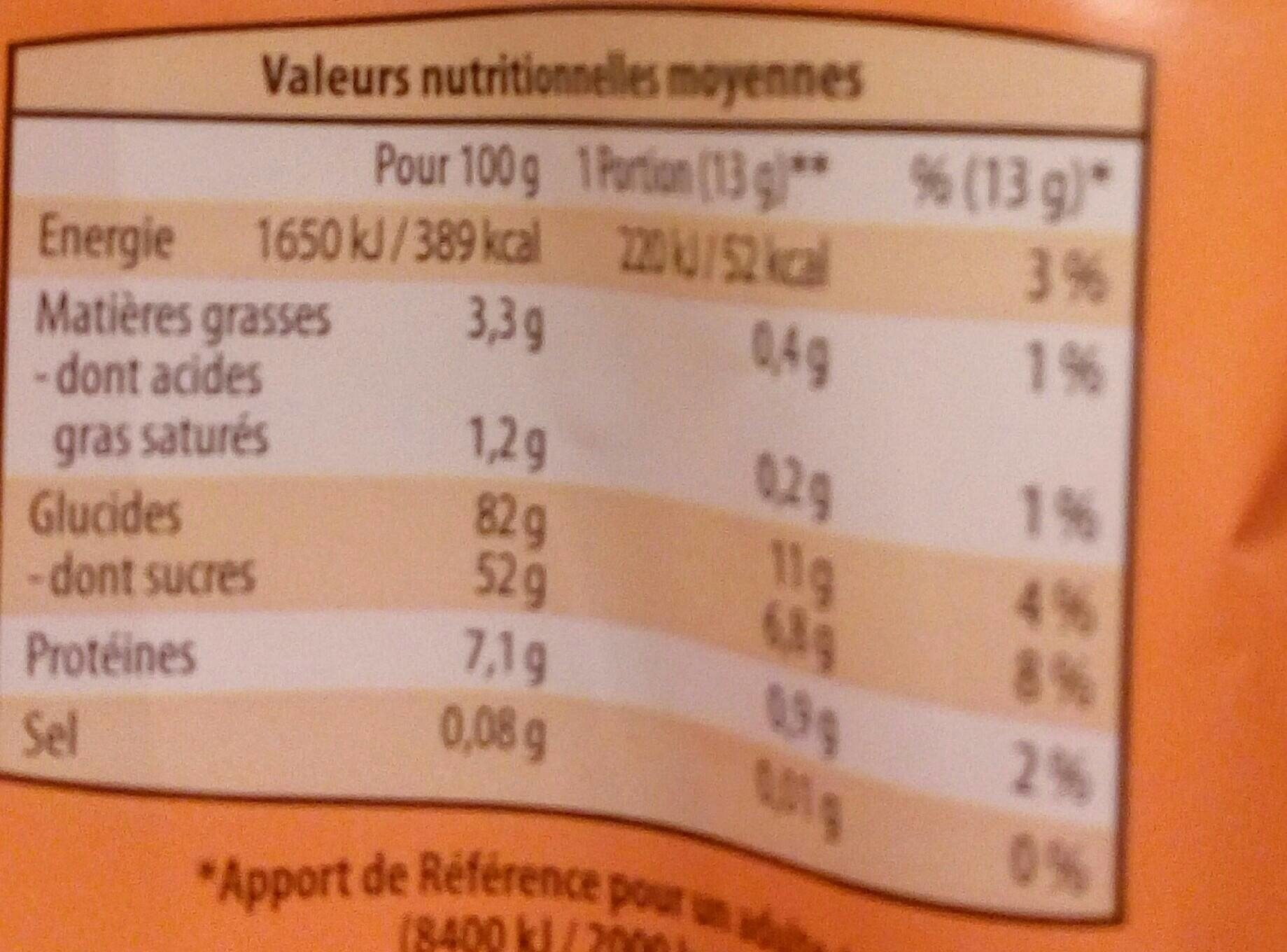 Boudoirs 25% d'œufs - Nutrition facts - fr