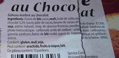 Gateau Marbré au chocolat - Ingredients