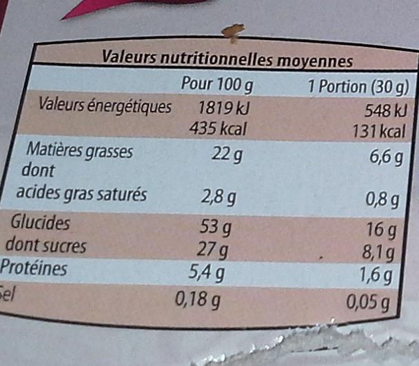 Gateau Marbré au chocolat - Nutrition facts
