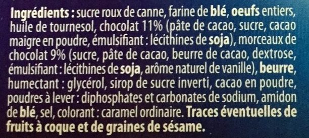 Brookie aux Éclats de Biscuits & Morceaux de Chocolat - Ingrédients - fr