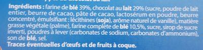 Sablés - chocolat au lait - Ingrediënten - fr