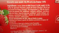 Génoise Fraises Paquet 120g - Ingrédients