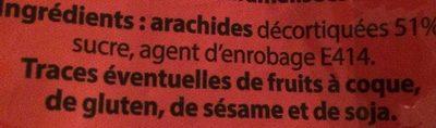 Chouchou cacahuètes caramélisées - Ingrediënten - fr