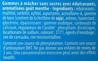 Chewing gum sans sucres Chlorophylle - Ingredients - fr