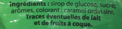 Bonbons saveur sève de pin - Ingredients