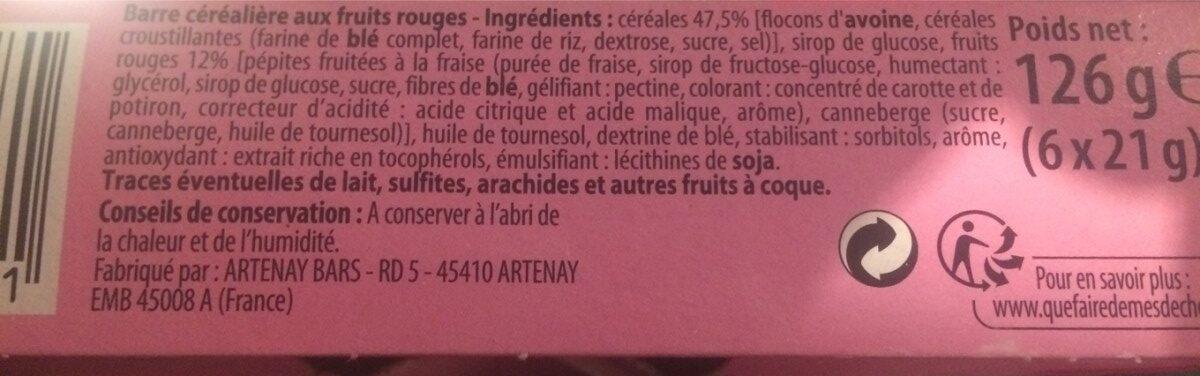 Céré'Active Pomme verte - Ingredients - fr