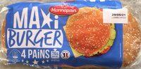 Pains Hamburger Géants (x 4) - Produit - fr