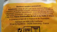 Bonbons Tendres Délices Extra Moelleux 10 Parfums - Ingredients