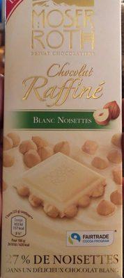 Chocolat Raffiné Blanc Noisettes - Produit - fr