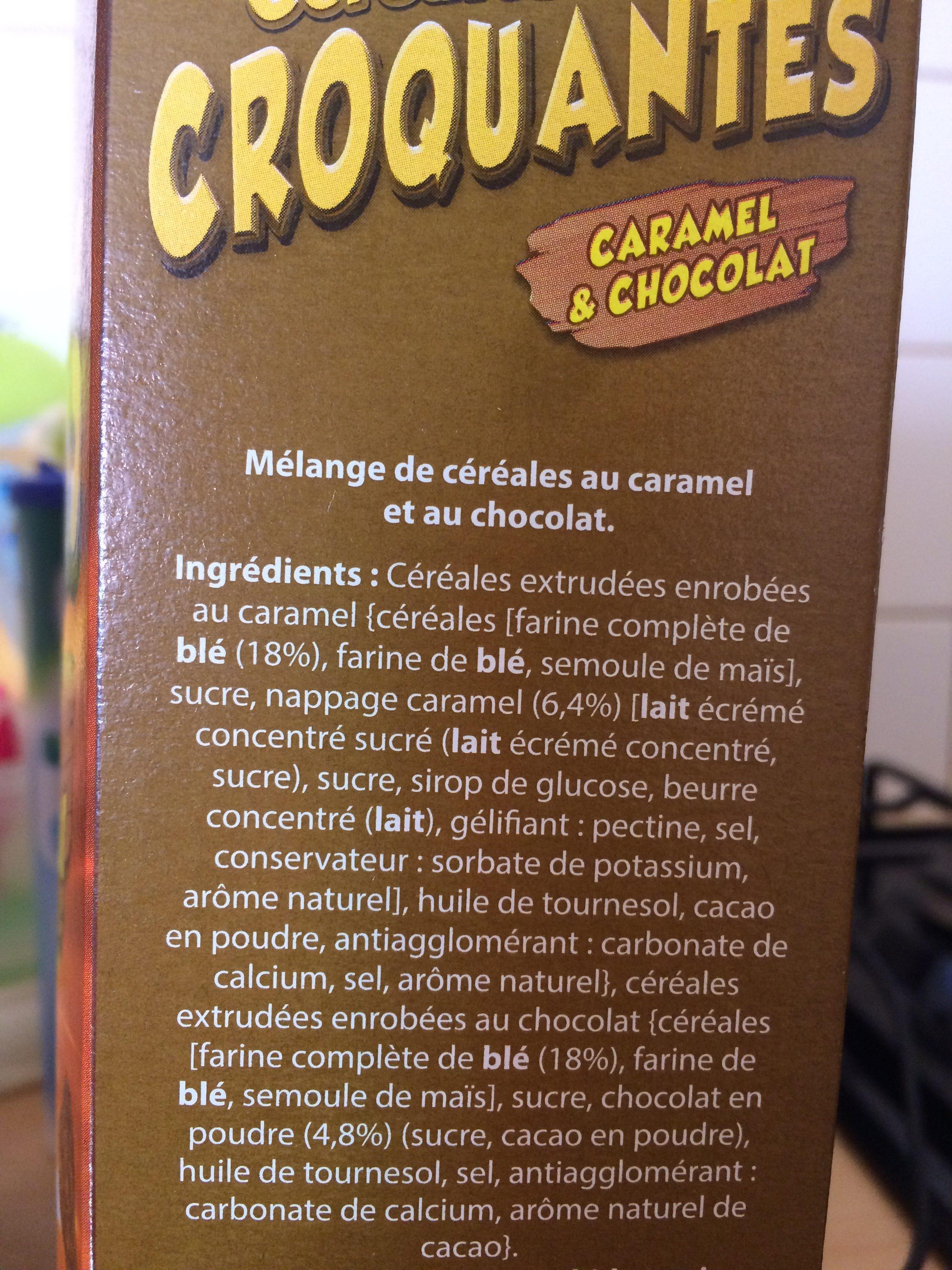 Céréales choco caramel croquantes - Ingrédients