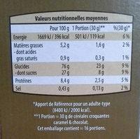 Céréales choco caramel croquantes - Informations nutritionnelles
