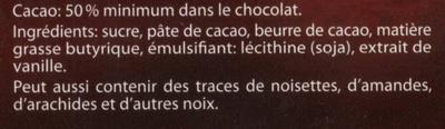 Chocolat noir - Ingredients - fr