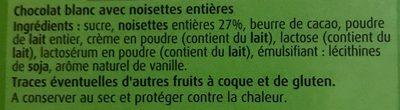Chocolat blanc coco et cornfalkes - Ingrédients - fr