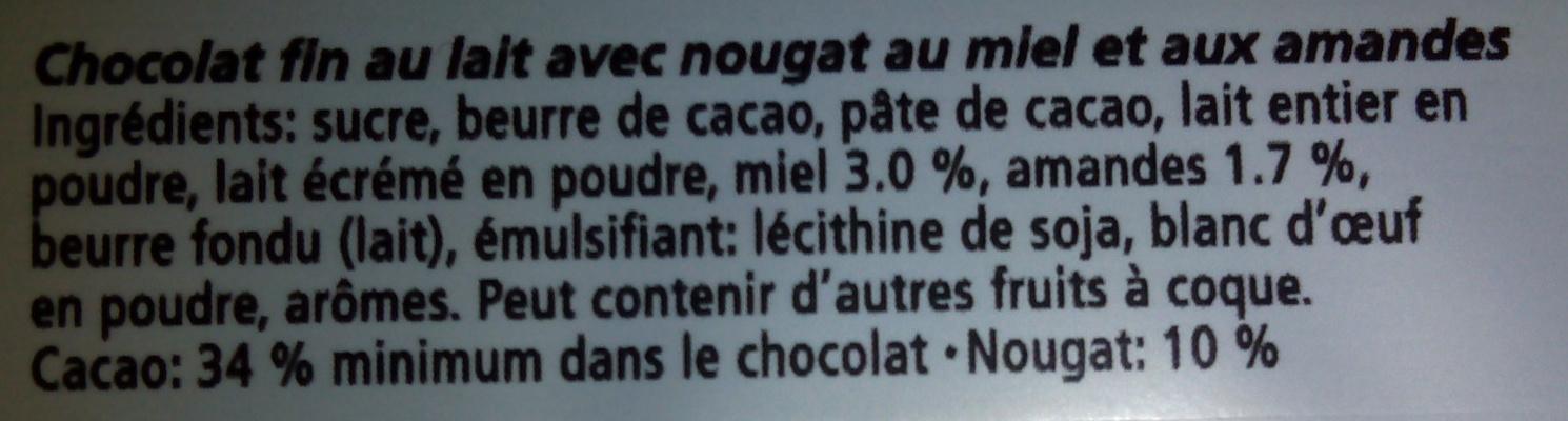Chocobloc - Ingredients - fr