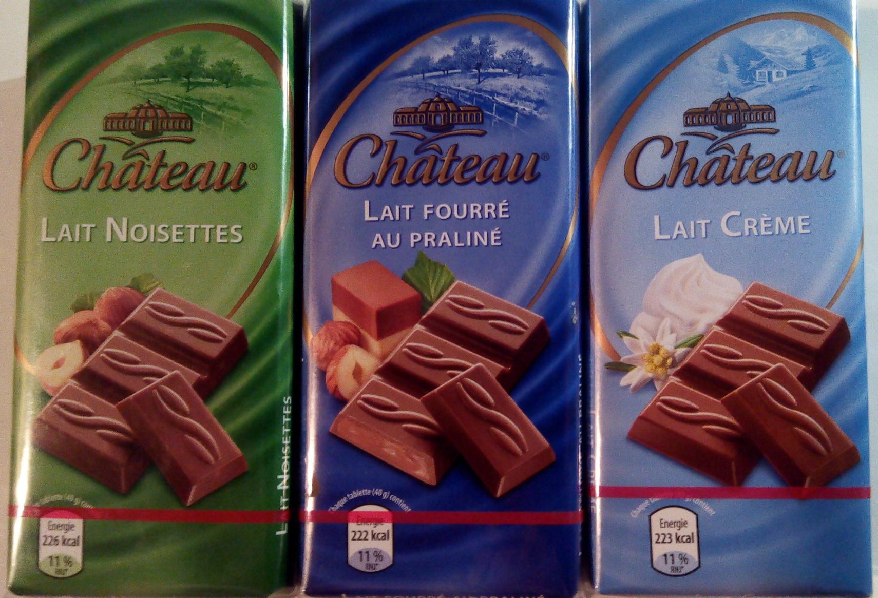 Chocolat au lait noisette ou lait fourré praliné ou lait crème - Produit - fr