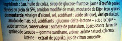 Mayonnaise à la moutarde de Dijon - Ingredients - fr