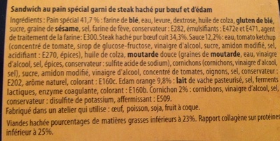 Cheese Burger Maxi - Ingredients - fr
