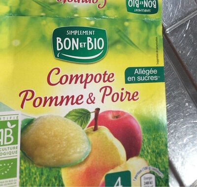 Compote pomme & poire - Product - fr