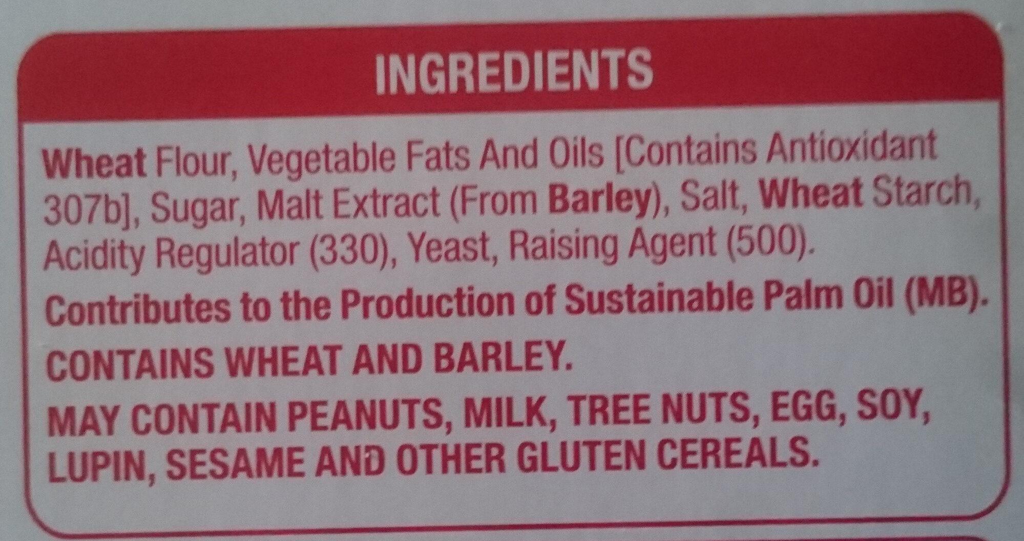 Eton Original Cracker Biscuits - Ingredients