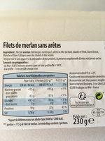 Filet de merlan - Ingredienti - fr