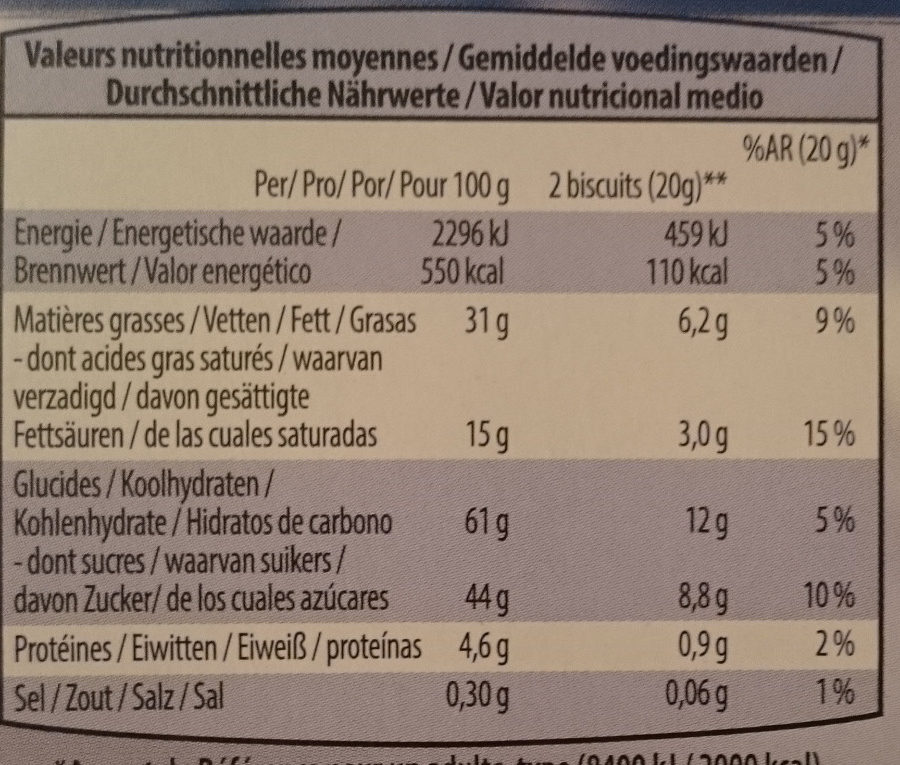Go-Cacao - Nutrition facts - fr