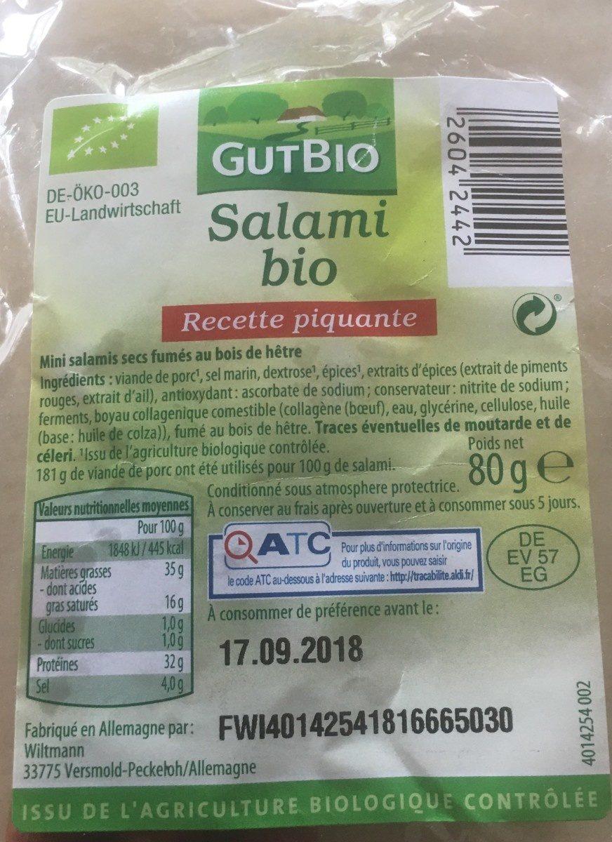 Salami bio - Produit - fr