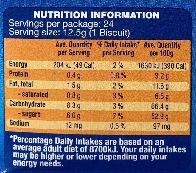 Jaffa cakes - Voedingswaarden - en