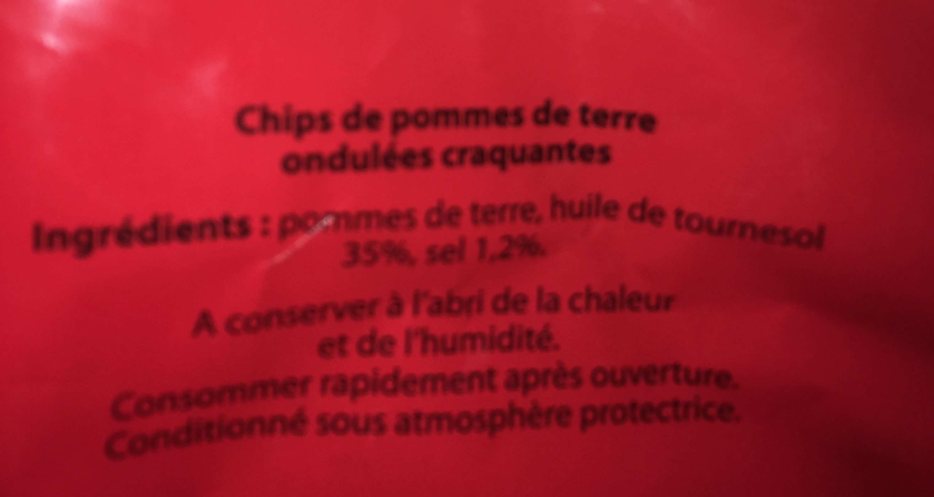Pirato chips craquantes - Ingredients