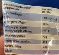 SPORT Mania - Nutrition facts