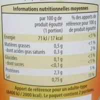 Entiers 1er Choix (Champignons de Paris) - Informations nutritionnelles - fr