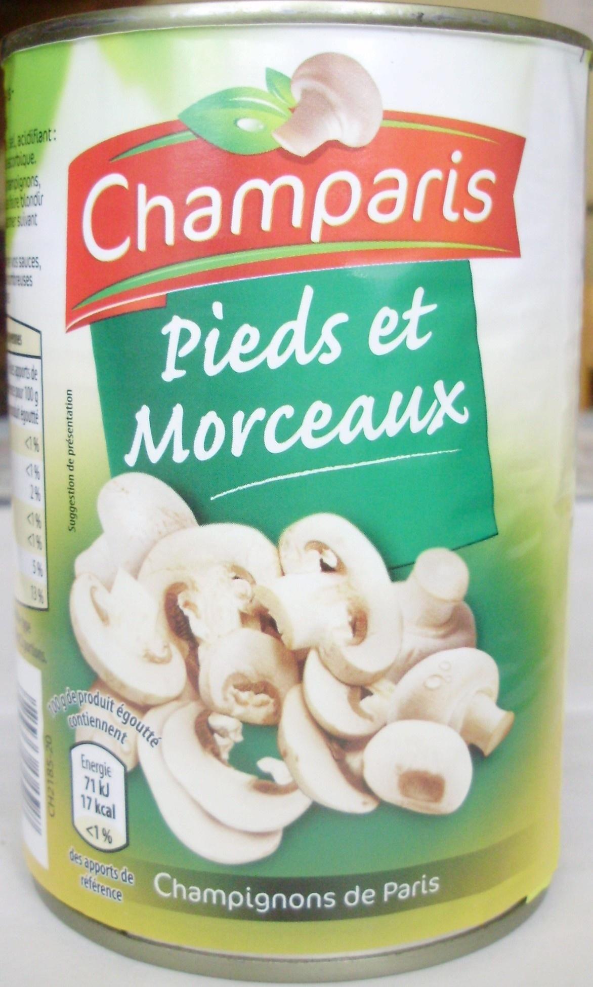 Pieds et Morceaux (Champignons de Paris) - Produit - fr