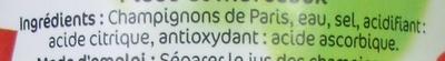 Pieds et Morceaux (Champignons de Paris) - Ingrédients - fr