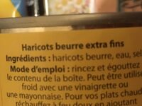 Haricots Beurre extra fins - Ingrédients - fr