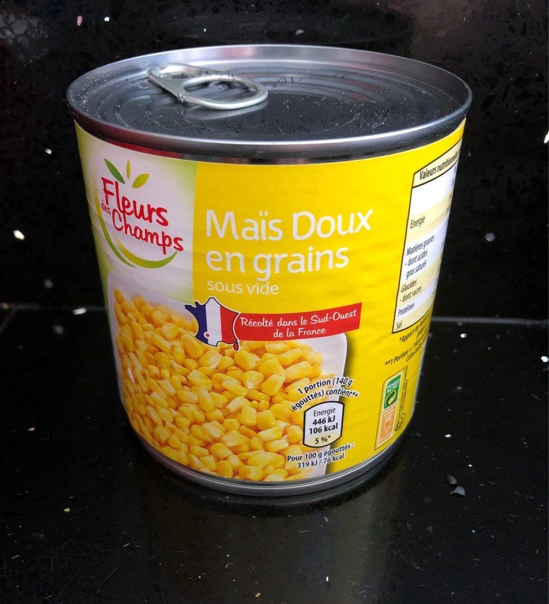 Maïs Doux en Grains Sous Vide - Product - fr