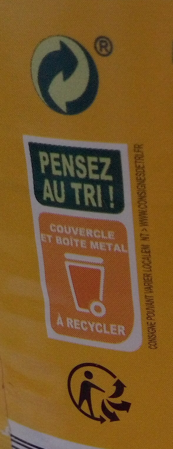 Maïs sans sucres ajoutés - Recycling instructions and/or packaging information - fr