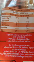 6 mini chinois - Nutrition facts