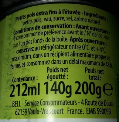 Petits pois & carottes - Ingredients - fr