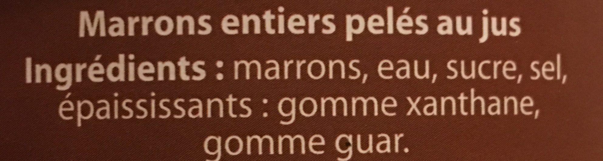 Marrons Entiers - Ingredients