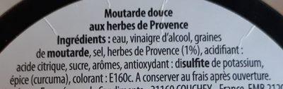 Moutarde aux herbes de provence - Ingrédients